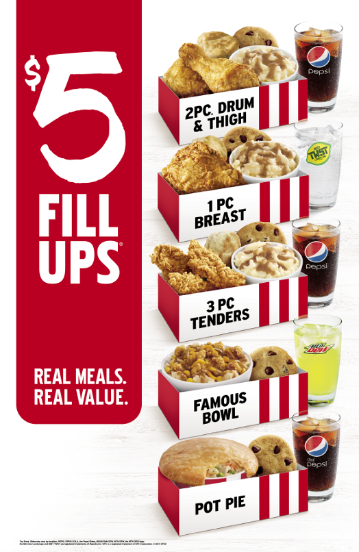 $5 Fills Ups Real Meals. Real Value.
