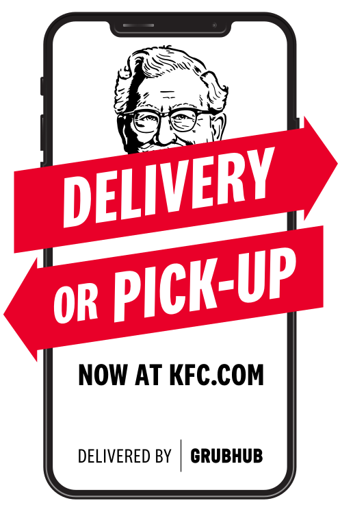 Delivery or Pickup now at KFC.COM - delivered by GRUBHUB